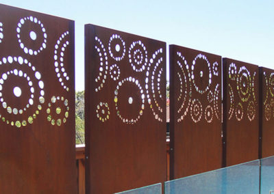 Laser cut artistic rustic fence design