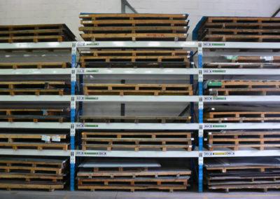 Multipunch storage shelves