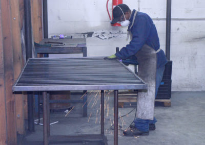 Grinding after welding